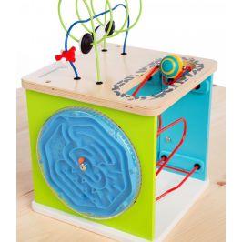 Hape Baby Einstein Hračka dřevěná aktivní kostka Innovation Station - zánovní