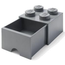 LEGO Úložný box 4 s šuplíkem tmavě šedá