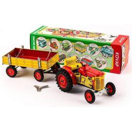KOVAP Traktor Zetor s valníkem červený - zánovní