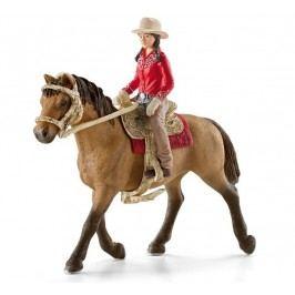 Schleich Westernová jezdkyně na koni 42112