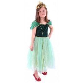Rappa Kostým princezna Anička zelená S