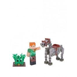 TM Toys Minecraft - Alex s kostrou koně sběratelská figurka s doplňky