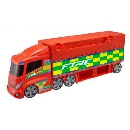 Alltoys Teamsterz hasičská stanice - tahač - zánovní