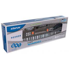 Teddies Piánko velké plast 61 kláves s mikrofonem - rozbaleno