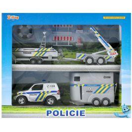 Mikro hračky Policejní auto 13cm s přívěsem+2 vozíky - použité