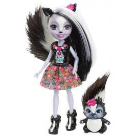 Mattel Enchantimals panenka se zvířátkem Sage Skunk