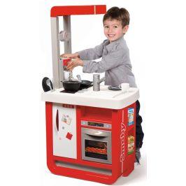 Smoby Kuchyňka Bon Appetit elektronická, červeno-bílá - rozbaleno