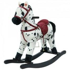 Teddies Houpací kůň bíločerný