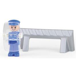 LENA Truxx Policie s figurkou - rozbaleno
