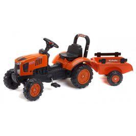 Falk Traktor Kubota M7171 s valníkem oranžový - použité