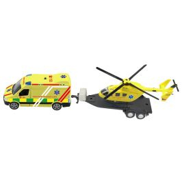 MaDe Ambulance a vrtulník se světlem a zvukem - rozbaleno