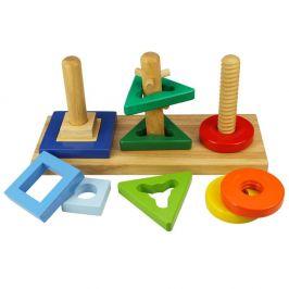 Bigjigs Toys Dřevěná motorická hračka - Nasaď a otoč - rozbaleno