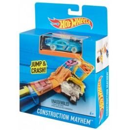 Hot Wheels Dráha do kapsy Construction Mayhen