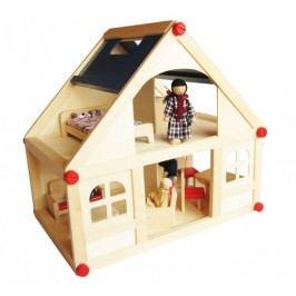 Marionette Domeček s panenkami, dřevěný
