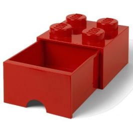 LEGO Úložný box 4 s šuplíkem červená - zánovní