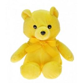 Mikro Trading Medvídek plyšový Happy Birthday 25 cm - žlutý