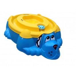 Marian Plast Pískoviště-bazének Pes s krytem modrá/žlutá