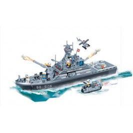 BanBao Stavebnice Defence Force bitevní loď 858 ks - II. jakost