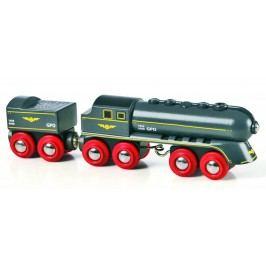 Brio Rychlý šedý vlak s vagonem