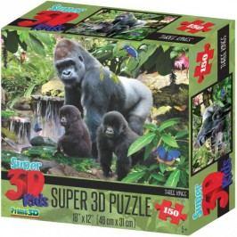 Lamps 3D Puzzle Opičí rodina 150 dílků