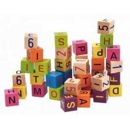 Woody Barevné kostky s písmeny a čísly, 40ks
