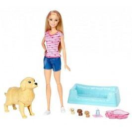 Mattel Barbie Narození štěňátek blondýnka