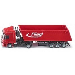 SIKU Kamion s vyklápěcím vlekem červený, 1:50