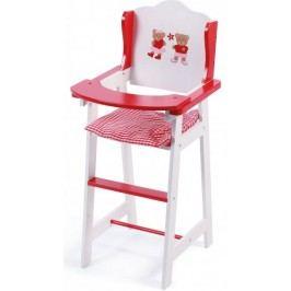 Bayer Chic Židlička pro panenku dřevo red