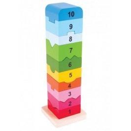 Bigjigs Toys Dřevěná motorická věž s číslicemi