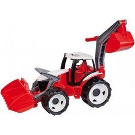 LENA Traktor se lžící a bagrem, červeno bílý