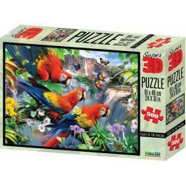 Lamps 3D Puzzle Papoušci 500 dílků