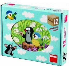 Dino Kostky kubus Krtek a ptáček 12ks