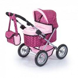 Bayer Design Růžový kočárek Trendy vzorovaný