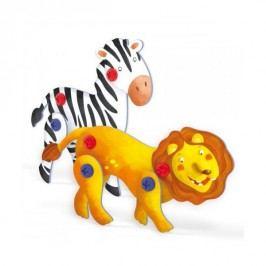 Quercetti Tecno Puzzle 3D lev a zebra