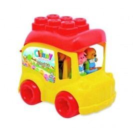 Clementoni Školní autobus se zvířátky a kostkami