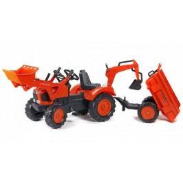 Falk Kubota traktor přední nakladač + sklápěcí přívěs