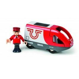 Brio Elektrická lokomotiva červeno-bílá