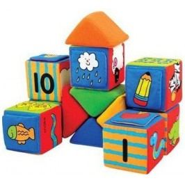 K´s Kids Sada veselých látkových kostek, 12 kostek a 8 trojúhelníků