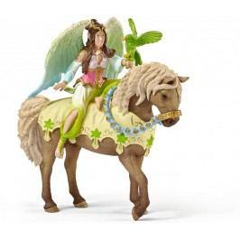Schleich Víla Sura ve slavnostním oděvu na koni 70504