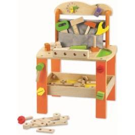 Teddies Stůl/Ponk s nářadím dřevo 38ks