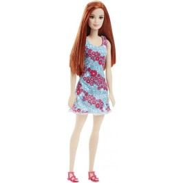 Mattel Barbie v šatech modro-červených s květinami