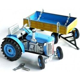 KOVAP Traktor Zetor s valníkem na klíček modrý