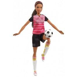 Mattel Barbie sportovkyně fotbalistka tmavovlasá