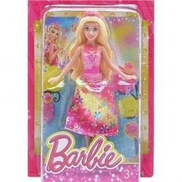Barbie Pohádkový set – růžová s květinami