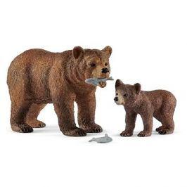 Schleich 42473 Medvědice Grizzly s mládětem