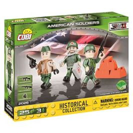 Cobi 3 figurky s doplňky Americká armáda