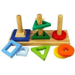 Dřevěná motorická hračka - Nasaď a otoč