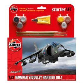 Starter Set letadlo A55205 - Hawker Harrier GR1