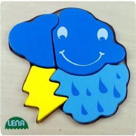 Lena Dřevěné puzzle - bouřka
