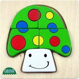 Lena Dřevěné puzzle - houba